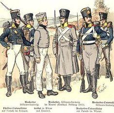 Prussian Infantry : Napoleonic Wars : Uniforms : Organization : Preußische Infanterie
