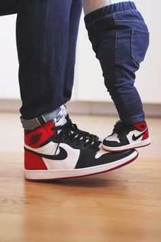 Nike Air Jordan 1 Retro High OG Black Toe - 2016 & 2006 (by montyleonjeff)