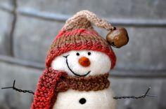 Snowman, Needle Felted Snowmen 86. $50.00, via Etsy.