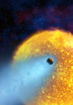 The scorched extrasolar planet HD 209458b (Credit STSCI)
