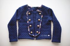 Military Cardi DIY - The Sewing Rabbit - add the military look to any cardigan pattern you already have