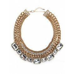 BaubleBar Gold Tier Gem Collar