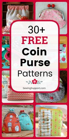 35 Free Coin Purse Patterns DIY Coin Purses: Over 30 Free Coin Purse patterns, tutorials, and diy sewing projects. Zipper, snap, and frame styles to sew from fabric. Great diy gift for kids. Diy Sewing Projects, Sewing Projects For Beginners, Sewing Tutorials, Bag Tutorials, Purse Patterns Free, Bag Patterns To Sew, Quilting Frames, Hand Quilting, Diy Quilting