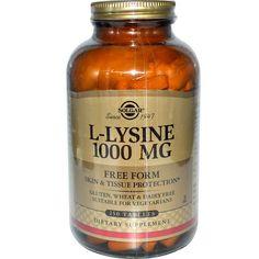 sports-fitness-athletic: Solgar, L-Lysine, Free Form, 1000 mg, 250 Tablets