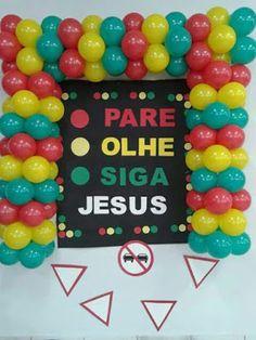 MATERIAL,SUGESTÕES DE ORNAMENTAÇÃO PARA EBF,ou CULTO PARE,OLHE, SIGA JESUS - Virtuosa