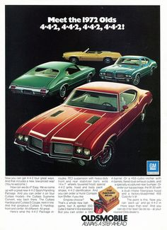 1972 Oldsmobile Cutlass 442 models