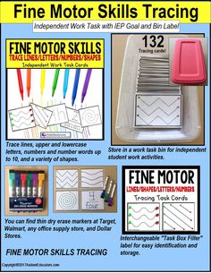 "ONLY $2.00 for 132 Fine Motor Skills Practice Task cards! See our ""Task Box Filler"" sets for independent task work."