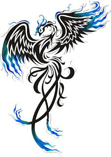 phoenix tattoo - LOVE the blue!