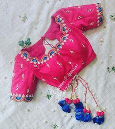 Blouse Back Neck Designs, Simple Blouse Designs, Stylish Blouse Design, Wedding Saree Blouse Designs, Pattu Saree Blouse Designs, Blouse Designs Silk, Saree Wedding, Designer Saree Blouses, Designer Blouse Patterns