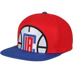 separation shoes 28c5b ae47e Men s LA Clippers Mitchell   Ness Red Royal Cropped XL Logo Adjustable Snapback  Hat, Your Price   31.99