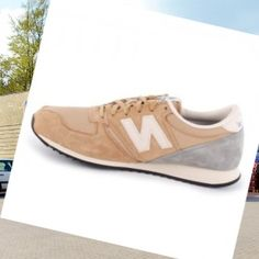 New Balance 420 Laced Suede & Nylon Mænds Trænere Beige,Good quality!You are worthy to wear it .