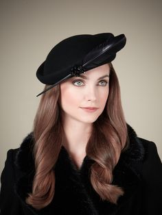 Black Feather Hat, part of the Rachel Trevor-Morgan for Jacques Vert collection. #passion4hats