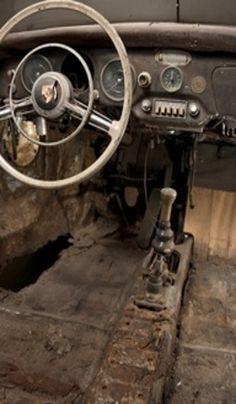 Inside Old Car