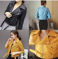 Outerwear Women, Jacket Style, Clothes For Sale, Leather Fashion, Patterned Shorts, Sleeve Styles, Leather Jacket, Coat, Long Sleeve
