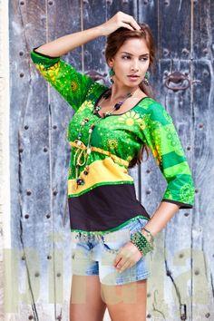 Vestidos cortos y blusones estampados Comando Pirata. Moda urbana y casual. Tienda de moda online.