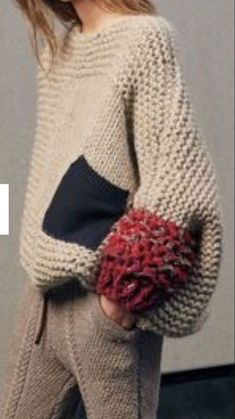 Knitwear Fashion, Knit Fashion, Sweater Fashion, Socks Outfit, Oversize Pullover, Oversized Sweaters, Diy Pullover, Pulls, Knit Crochet