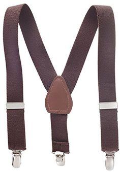 "Solid Color Kids Elastic Adjustable Suspenders - Brown (30"") Hold'Em-WIckersham brothers http://www.amazon.com/dp/B00AC367MU/ref=cm_sw_r_pi_dp_1rvFub0TERNZX"