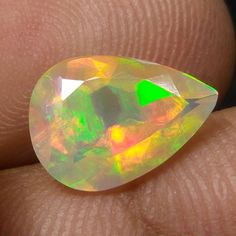 2.1 Carat Natural Earth Mined Ethiopian Fire Opal 12x8.7 MM Pear Shape Cut Stone #Unbranded