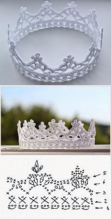 crochet crown - every princess needs at least one - www., crochet crown - every princess needs at least one - www. Crochet Diy, Thread Crochet, Love Crochet, Crochet For Kids, Crochet Flowers, Crochet Stitches, Crochet Hooks, Crochet Pillow, Crochet Poncho