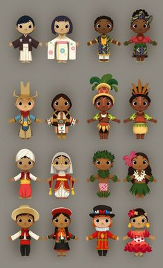 Visual development and concept work for Kinect Disneyland Avdentures, based on characters and attractions from the park. Character Concept, Character Art, Concept Art, Character Design Cartoon, Character Design Inspiration, Cute Illustration, Character Illustration, We Are The World, It's A Small World