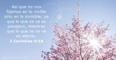 2 Corintios 4:18 - Versículo de la Biblia del día - DailyVerses.net