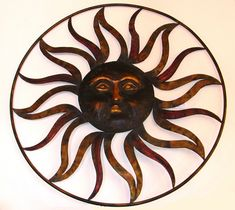 Sun metal art