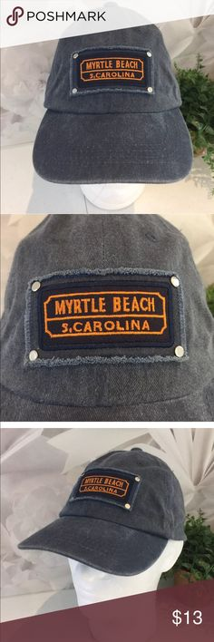 Myrtle Beach SC Distressed Hat Strand Headwear This listing is for a Myrtle Beach SC Distressed Blue Hat Strand Headwear Adjustable Strap.  We LOVE finding unique and special hats ... of all kinds. Some are new and some have been pre-owned. We sell NFL, NBA, NHL, and MLB hats. NCAA hats and NASCAR hats. We find other great hats like this one ...  Comes from a smoke free and pet free environment. Hat will be shipped in a box to prevent it from from getting crushed. Strand Headwear Accessories…