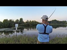 If you ever get that urge to go bass fishing, but have barely an hour to spare, this is a good way to get your line tight! Bass fishing with a Texas rig worm. Bass Fishing Tips, Fly Fishing, Fishing Videos, Fishing Stuff, Bass Boat, Largemouth Bass, Big Fish, Fishing Equipment, Rigs