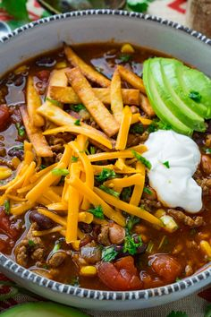 Taco Soup A quick and easy, pantry friendly taco soup! Parsley Recipes, Chicken Parmesan Recipes, Broccoli Recipes, Vegetarian Recipes Dinner, Mexican Food Recipes, Dinner Recipes, Cookbook Recipes, Soup Recipes, Chili Recipes