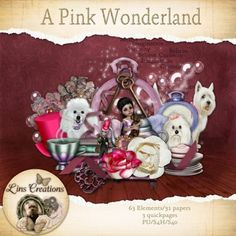 Berry Applicious Pink Wonderland [Lins Creations] - A pink wonderland for all the Alice in wonderland fans Alice In Wonderland, Christmas Ornaments, Holiday Decor, Paper, Pink, Scrapbooking, Store, Products, Christmas Jewelry