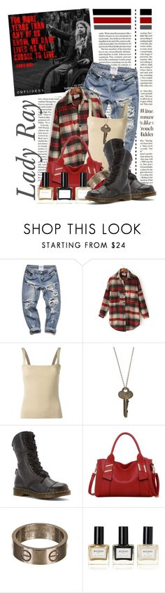 """""""Lady Ray.....Outsiders on WGN Tuesdays......."""" by queenrachietemplateaddict ❤ liked on Polyvore featuring moda, Dolce&Gabbana, The Giving Keys, Dr. Martens, LineShow, Cartier, Balmain, plaid ve outsiders"""