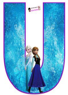 Frozen: Bello Alfabeto Gratis de Elsa y Ana.   Oh my Alfabetos!
