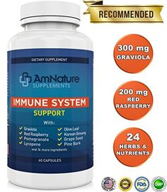 Immune System Support  Superb Blend of over 20 Antioxidans Herbs and other Nutrients Formulated to Support and Enhance the Bodys Immune System 60 Capsules 100 Satisfaction Guarantee >>> Want to know more, click on the image.