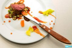 Top Chef Masters' Jennifer Jasinski truly captured the drama of a Soap Opera with her seared duck breast and citrus-chili duck sausage with fregola and celery salad. Duck Sausage, Celery Salad, Chef Recipes, The Dish, Masters, Chili, Opera, Drama, Breast