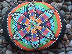 Hand Painted Stone. $20.00, via Etsy. My friend, Christine's store