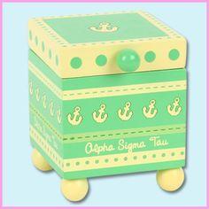 Alpha Sigma Tau Sorority Trinket Box $9.99