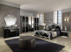 decoración para habitación lujosa puf negro