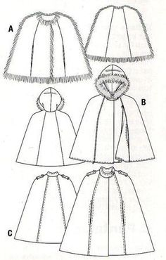 comment coudre un manteau cape Cape Pattern, Sewing Patterns Free, Crochet Pattern, Jacket Pattern, Coin Couture, Couture Sewing, Sewing Clothes, Diy Clothes, Sewing Projects