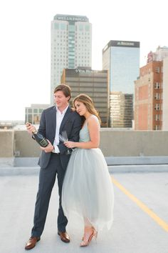 Sarah + Carter's downtown Birmingham, Alabama engagement photo session with Spindle Photography