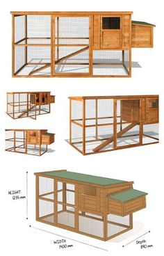 Large Starter Chicken Coop Home & Roost's Starter Chicken coop represents exceptional value for the first time buyer. Chicken Coop Large, Cheap Chicken Coops, Easy Chicken Coop, Chicken Coop Designs, Chicken Runs, Backyard Chicken Coop Plans, Chicken Coop Pallets, Building A Chicken Coop, Chickens Backyard