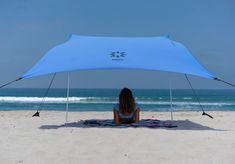 Neso Tents Beach Tent with Sand Anchor, Portable Canopy Sun Shelter, 7 x - Patented Reinforced Corners - Periwinkle Blue Portable Canopy, Camping Canopy, Backyard Canopy, Garden Canopy, Diy Canopy, Canopy Outdoor, Canopy Tent, Ikea Canopy, Ideas