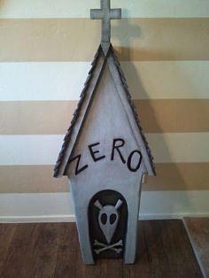 Nightmare Before Christmas Zero's Dog House Prop  http://diynmbcprops.blogspot.com/2013/05/nightmare-before-christmas-zeros-dog.html