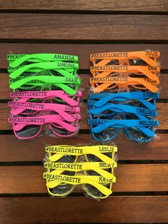 bd54c80707 We absolutely love these personalized sunglasses! The bride to be chose the  neon rainbow for