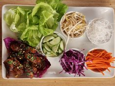As seen on The Pioneer Woman: Thai Lettuce Wraps