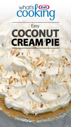 A homemade coconut cream pie with just 15 minutes of prep? Check out our recipe on how to make a coconut cream pie in no time with just a handful of ingredients. Easy Pie Recipes, Cream Pie Recipes, Coconut Recipes, Baking Recipes, Coconut Pie Recipe Easy, Easy Coconut Cream Pie, Pecan Cream Pie Recipe, Recipes With Coconut Cream, Homemade Recipe