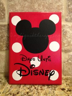 Mickey Disney World Vacation Chalkboard Countdown