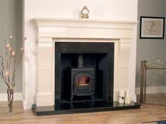 wood fireplace surround ideas - Google Search