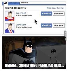 Funny Superheroes take on Social Media.   #funny #illustration #superheroes
