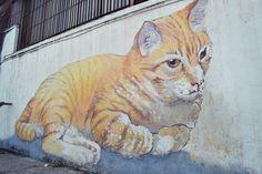 ginger cat penang street art