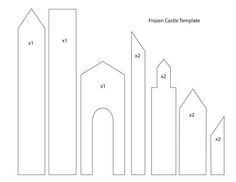 frozen castle template - Google Search: